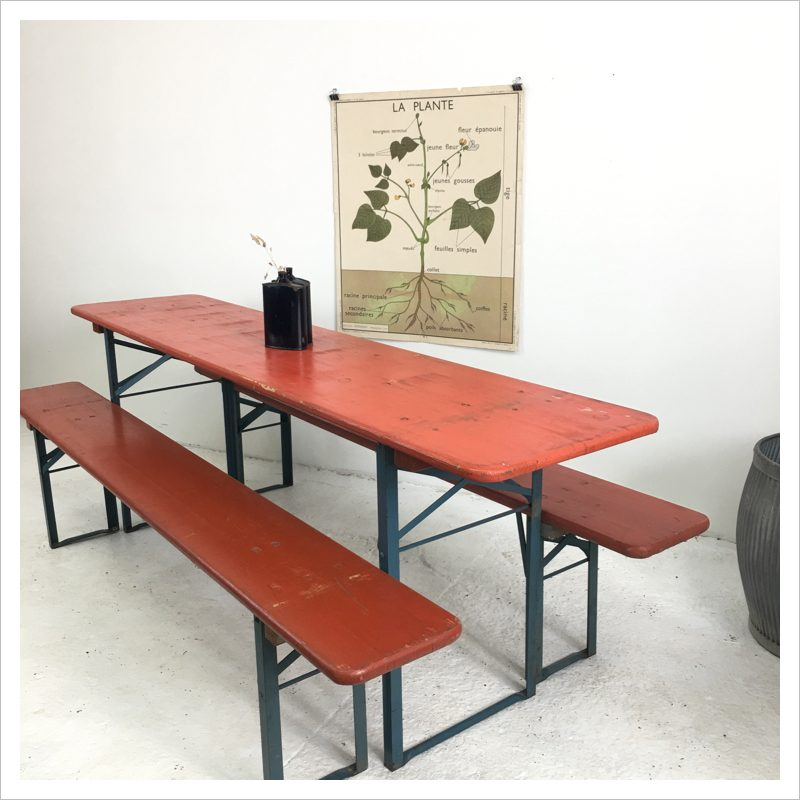Brilliant German Beer Hall Table And Bench Vintage Patio Set Evergreenethics Interior Chair Design Evergreenethicsorg