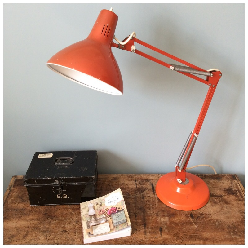 Red Anglepoise Lamp By Thousand And One Lamps Mayfly Vintage