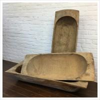 Medium Hungarian Wooden Dough Bowl Trencher