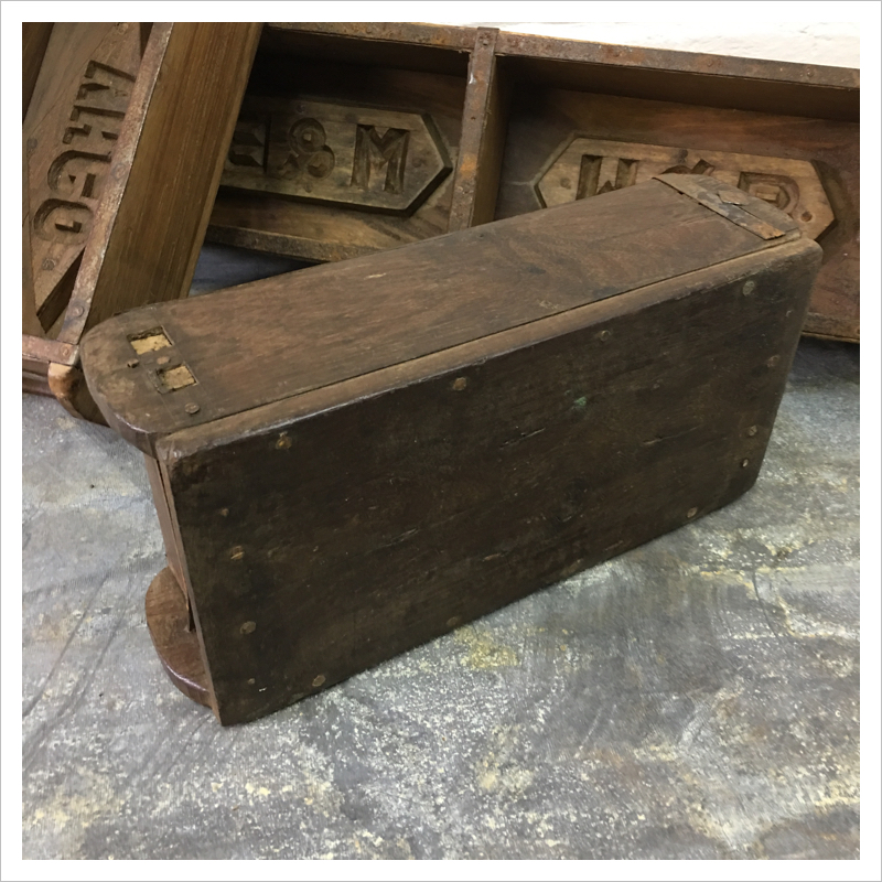 Wooden Indian Brick Mould Box