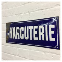 Original French Enamel Charcuterie Sign