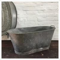 Galvanised Baby Bath Planter
