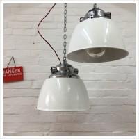 White Czech Arms Factory Pendant Light