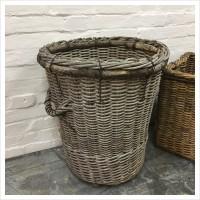 Large French Wicker Log Basket