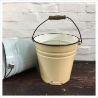 Cream Vintage Enamel Bucket
