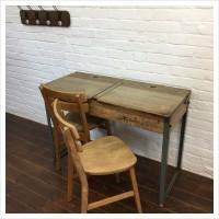 Vintage Double School Desk Set