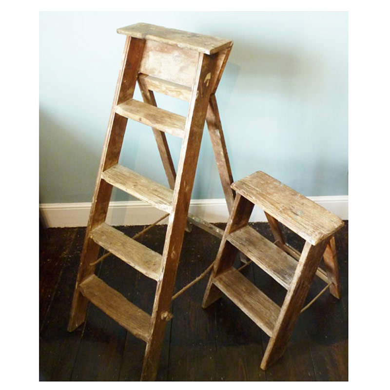 Lovely Vintage Wooden Step Ladder | Mayfly Vintage