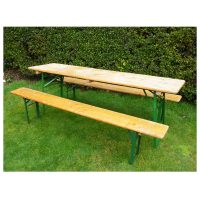 Original German beer hall trestle table and benches.