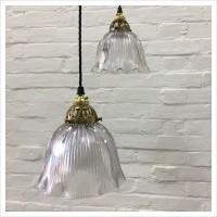 Original Glass Holophane Light Shade
