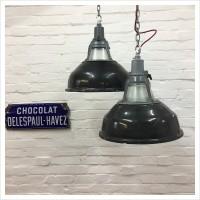 Black Pendant Soviet Factory Light