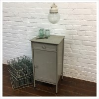 Original Soviet Grey Industrial Cabinet
