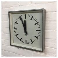 Czech Factory Square Pragotron Clock