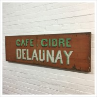 Original French Wooden Cafe Sign