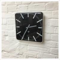 Square Black Faced Pragotron Clock