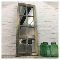 Wooden Window Mirror