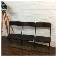 Row of 3 Vintage Theatre Seats