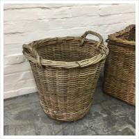 French Wicker Log Basket