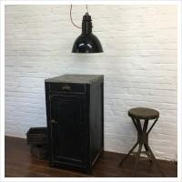 French Workshop Black Cupboard
