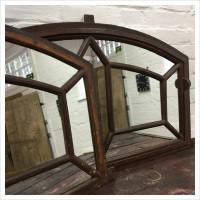 Original French Factory Metal Window Mirror