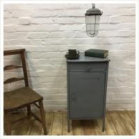 Original Soviet Blue Industrial Cabinet
