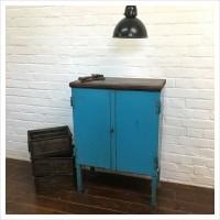 French Garage Workshop Vintage Cabinet