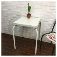 French White Metal Bistro Table