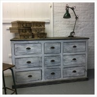 Painted French Wooden Drawers
