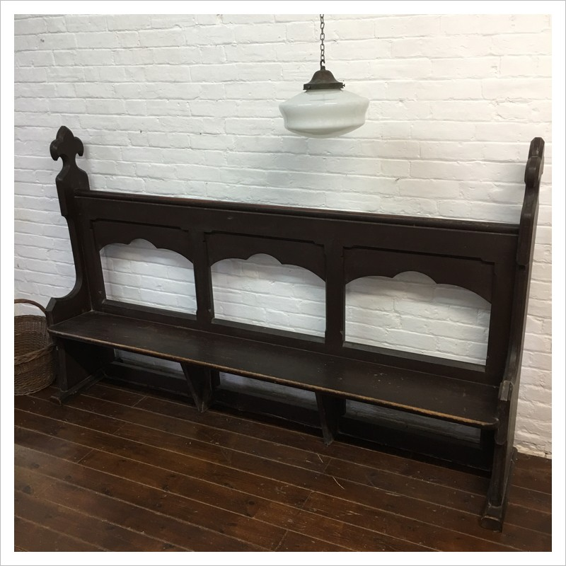 dimentions bench pew signature rental party products rentals church vintage churchbench
