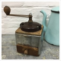 French Wooden Peugeot Coffee Grinder