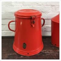 Red Hungarian Enamel Compost Bin