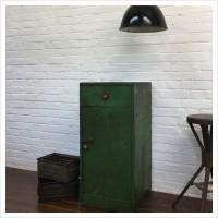 French Workshop Green Wooden Cupboard