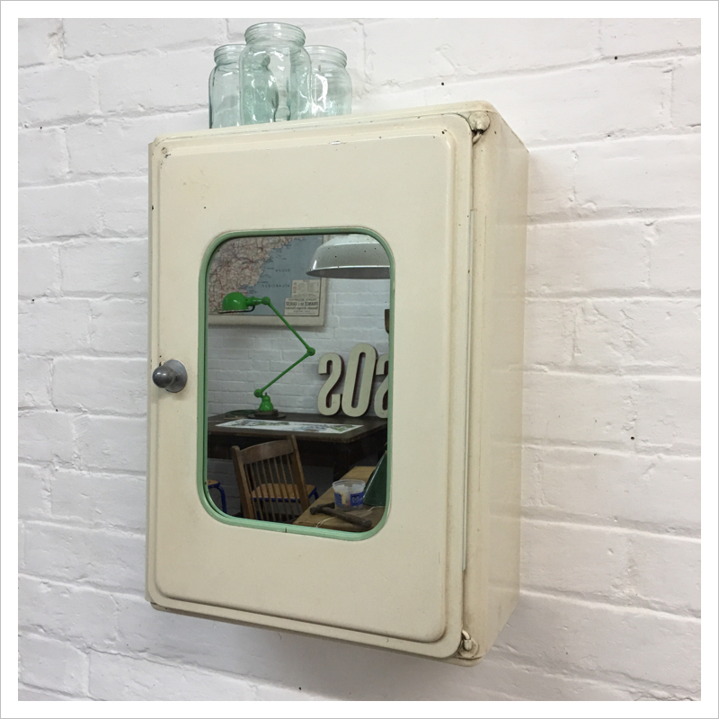 online store 06254 2225f French White Metal Bathroom Cabinet | Mayfly Vintage