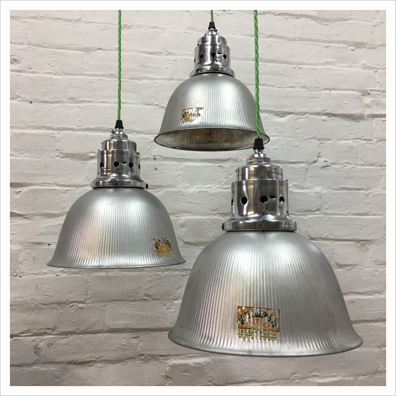 20th Century Antique Furniture Industrial Vintage Original Bell Pendant Gecoray Light