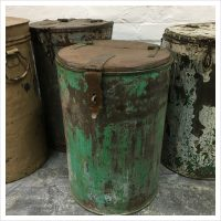 Green Vintage Indian Storage Bin