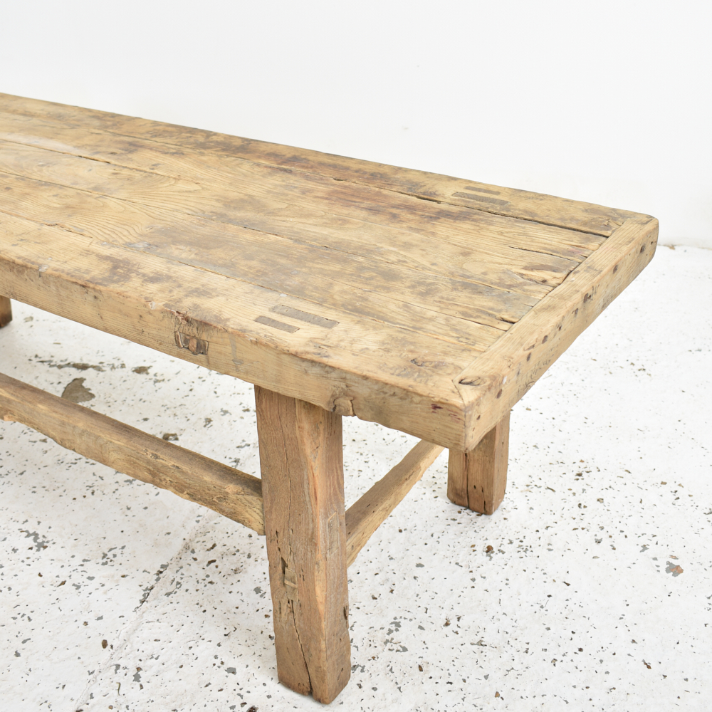 antique rustic elm coffee table