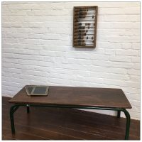 French School Wooden Coffee Table