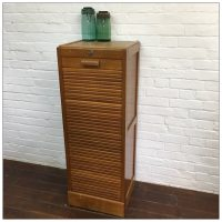 French Single Front Filing Tambour Cabinet