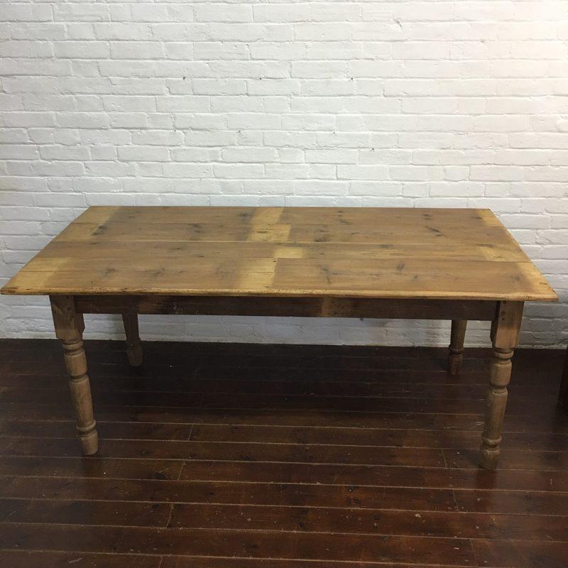Vintage French Farmhouse Pine Table
