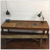 Vintage Hospital Flip Desk Table
