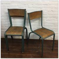 Green Mullca French School Chairs