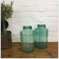 Hungarian Ribbed Clear Storage Jar
