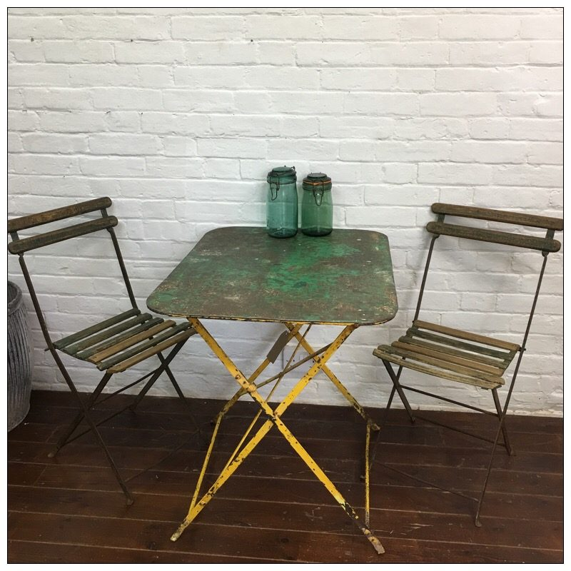 French bistro table and chairs mayfly vintagemayfly vintage - French style bistro table and chairs ...