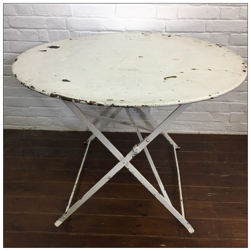 white french bistro table and chairs