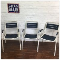 French Metal Tolix Style Bistro Garden Chairs