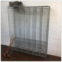 Galvanised 6 Bay Wire Lockers