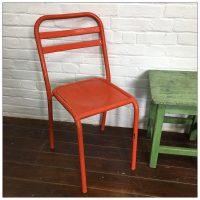 French Orange Tolix Chair