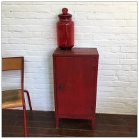 Red Industrial Cabinet