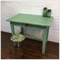Hungarian Green Wooden Table