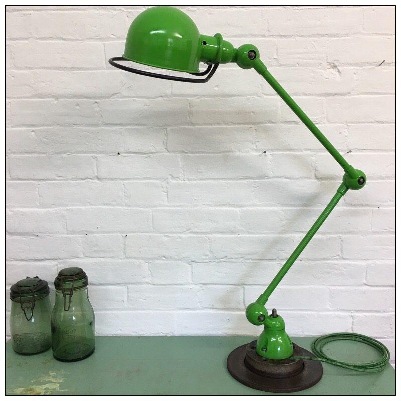 Lovely Green 2 Arm Jielde Lamp