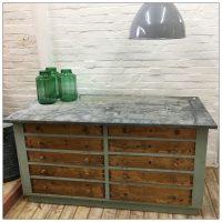 Zinc Topped Shop Counter Haberdashery Drawers